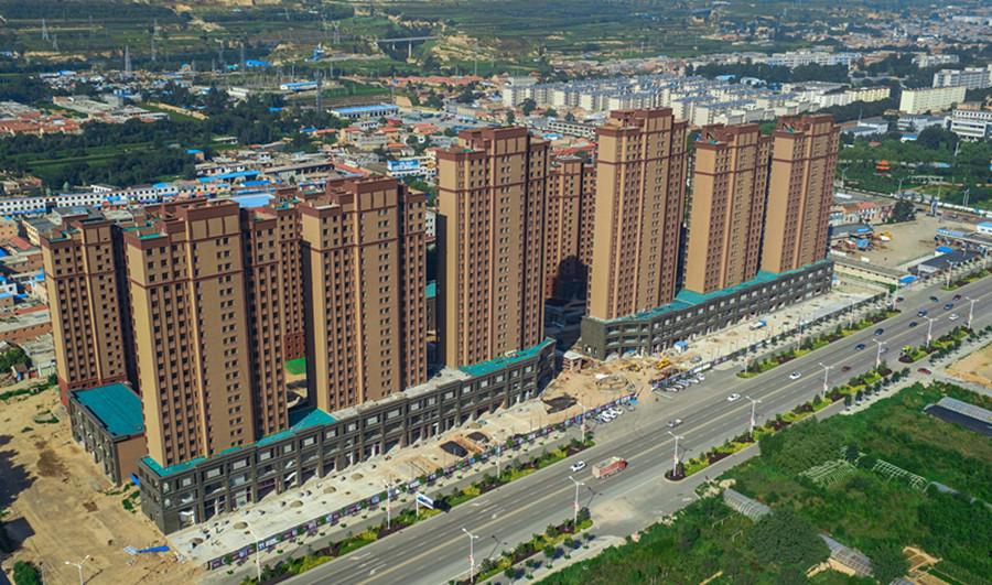 建设中的新城国际住宅小区